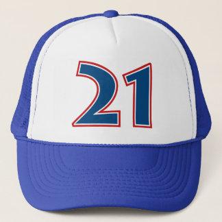 Gorra De Camionero Número azul 21