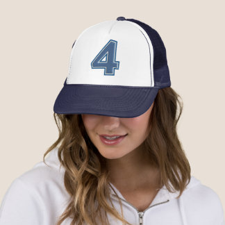 Gorra De Camionero Número azul 4
