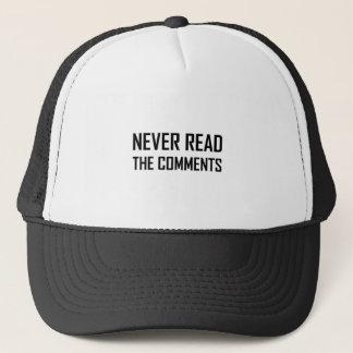 Gorra De Camionero Nunca lea los comentarios
