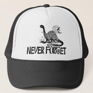 Gorra De Camionero Nunca olvide el dinosaurio