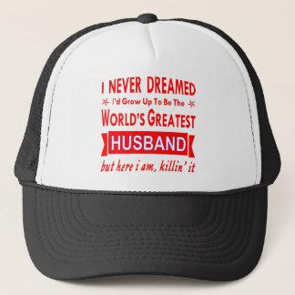 Gorra De Camionero Nunca soñado sería el marido más grande del mundo