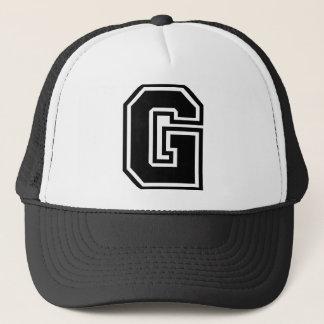 """Gorra De Camionero Obra clásica de la letra """"G"""""""