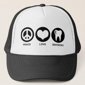 Gorra De Camionero Odontología del amor de la paz