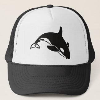 Gorra De Camionero Orca blanco y negro de la orca