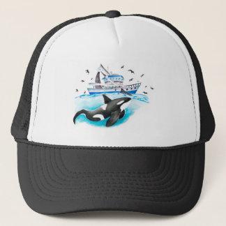 Gorra De Camionero Orca y el barco