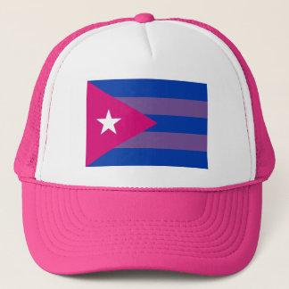 Gorra De Camionero Orgullo cubano LGBT bisexual del BI