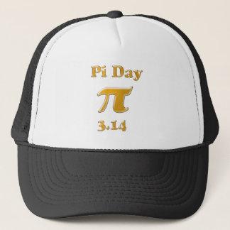 Gorra De Camionero Oro del día del pi