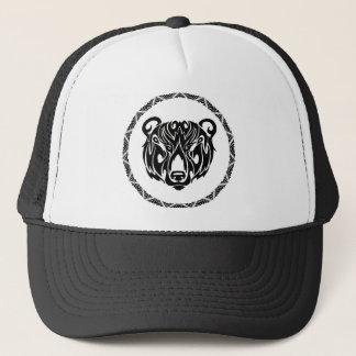 Gorra De Camionero oso tribal negro