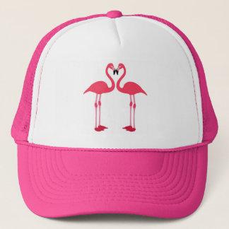 Gorra De Camionero Pájaros rosados del amor del flamenco