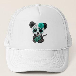 Gorra De Camionero Panda azul del cráneo del azúcar que toca la