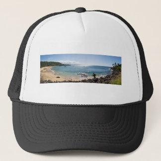 Gorra De Camionero panorama de la bahía del waimea
