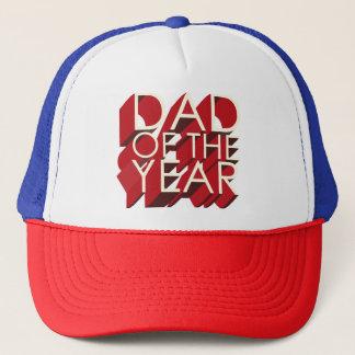 Gorra De Camionero papá rojo de la sombra 3D del año