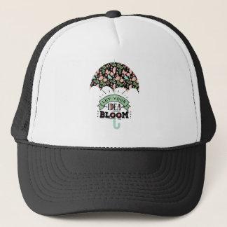 Gorra De Camionero Paraguas de la floración de la idea