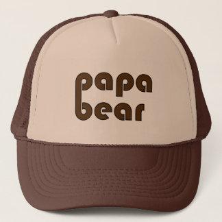 Gorra De Camionero Pata de oso del oso de la papá (Brown)
