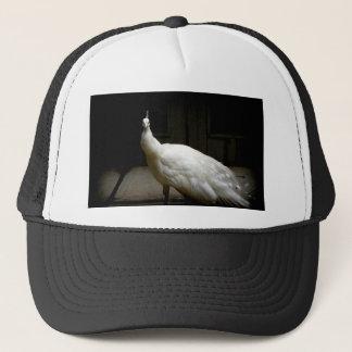 Gorra De Camionero Pavo real blanco del albino
