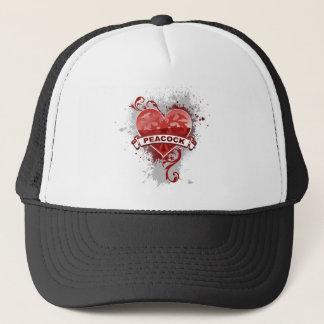 Gorra De Camionero Pavo real del corazón