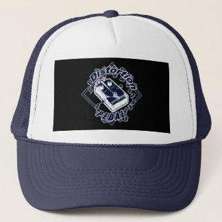 Gorra De Camionero Pedal de la distorsión - diamante del azul de la
