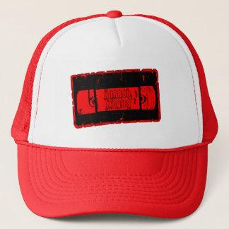 Gorra De Camionero Películas de terror - cinta de video roja/negro