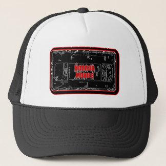Gorra De Camionero Películas de terror - negro rojo de la cinta de
