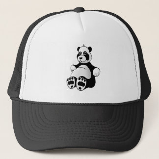 Gorra De Camionero Peluche del oso de panda del dibujo animado