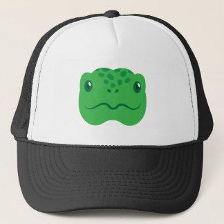 Gorra De Camionero pequeña cara linda de la tortuga de la tortuga