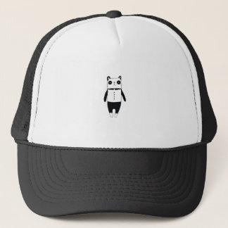Gorra De Camionero Pequeña panda blanco y negro