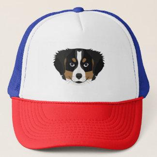 Gorra De Camionero Perro de montaña de Bernese del ilustracion