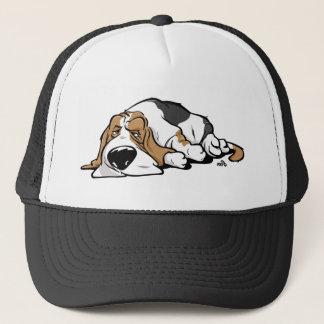 Gorra De Camionero Perro del dibujo animado de Basset Hound