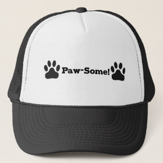 Gorra De Camionero Perro del gato de Pawsome