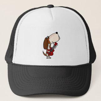 Gorra De Camionero Perro divertido de Basset Hound que toca la