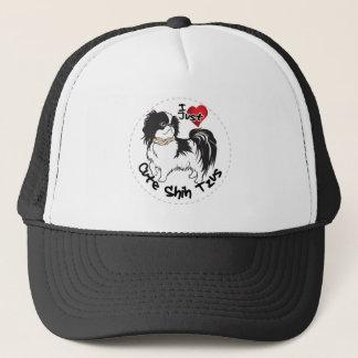 Gorra De Camionero Perro divertido y lindo adorable feliz de Shih Tzu