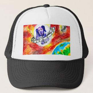 Gorra De Camionero Perro extranjero en arte del espacio