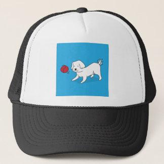 Gorra De Camionero Perro que juega con una bola