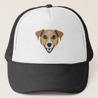 Gorra De Camionero Perro Terrier sonriente del ilustracion