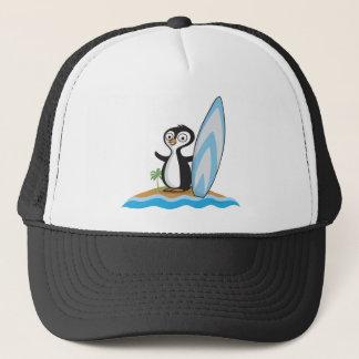 Gorra De Camionero Persona que practica surf del pingüino