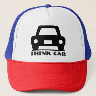 Gorra De Camionero Piense el gorra/el casquillo enrrollados del coche