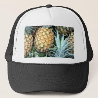 Gorra De Camionero Piñas hawaianas del trullo, verdes y de oro