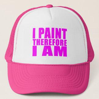 Gorra De Camionero Pintores del chica: Me pinto por lo tanto estoy