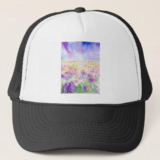 Gorra De Camionero Pintura abstracta del prado del wildflower de la
