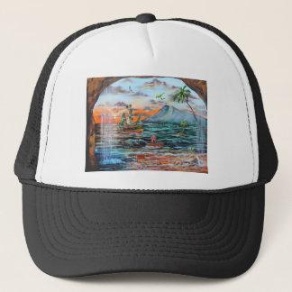 Gorra De Camionero Pintura de Bell del chapucero de la ensenada del