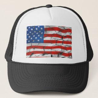 Gorra De Camionero Pintura llevada agrietada patriótica de la bandera