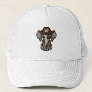 Gorra De Camionero Pirata lindo del elefante del bebé