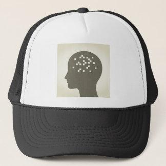 Gorra De Camionero Pixel en una cabeza