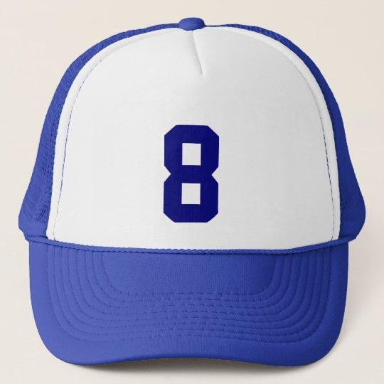 Gorra De Camionero Plantilla custom el número ocho 8 color azul