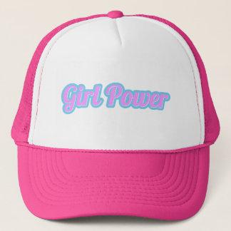 Gorra De Camionero Poder del chica rosa claro y azul claro