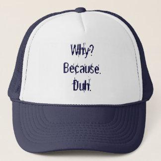 Gorra De Camionero ¿Por qué? Porque. Duh.