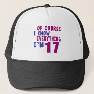 Gorra De Camionero Por supuesto sé que todo soy 17