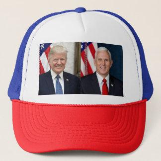 Gorra De Camionero Presidente Donald Trump y peniques de VP Mike