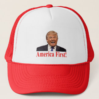 Gorra De Camionero Presidente Trump: ¡América primero!