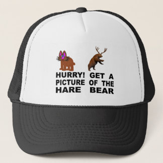 Gorra De Camionero ¡Prisa!  Consiga una imagen del oso de las liebres